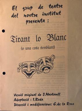 Tirant lo Blanc 1993