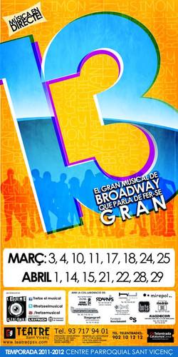 13, el musical, 2011/2012