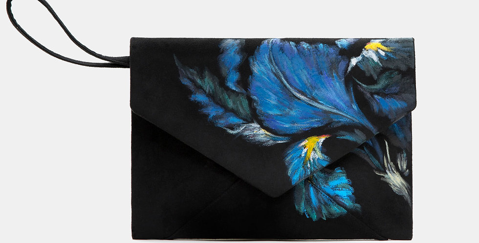 IRIS-PAINTED ENVELOPE BAG