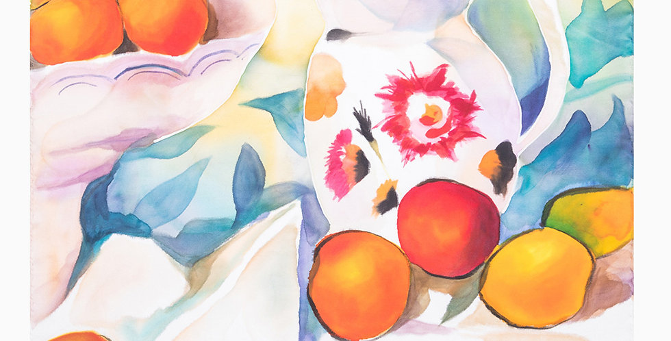 STILL LIFE PAINTING 45 SQUARE SCARF