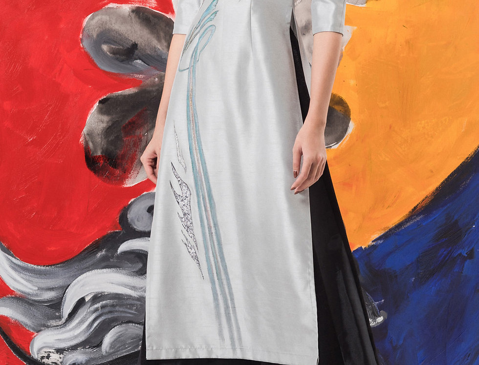 IRIS-PAINTED CONTEMPORARY AODAI