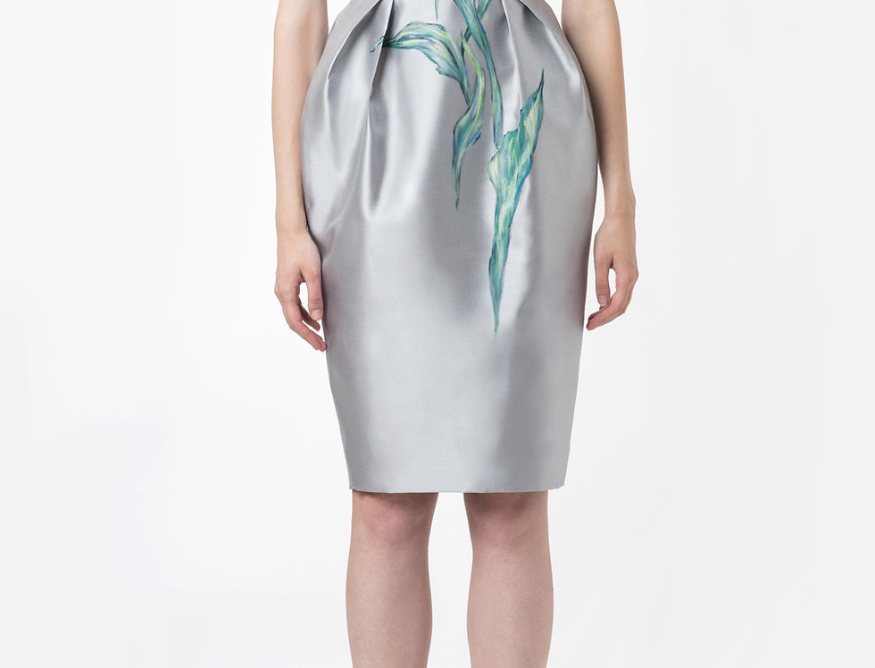 IRIS-PAINTED SILVER DRESS