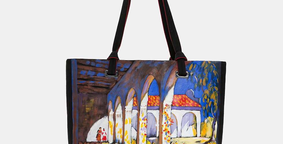 LANDSCAPE-PAINTED TOTE BAG