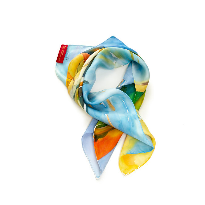 Landscape Hand-painted 55 Square Scarf