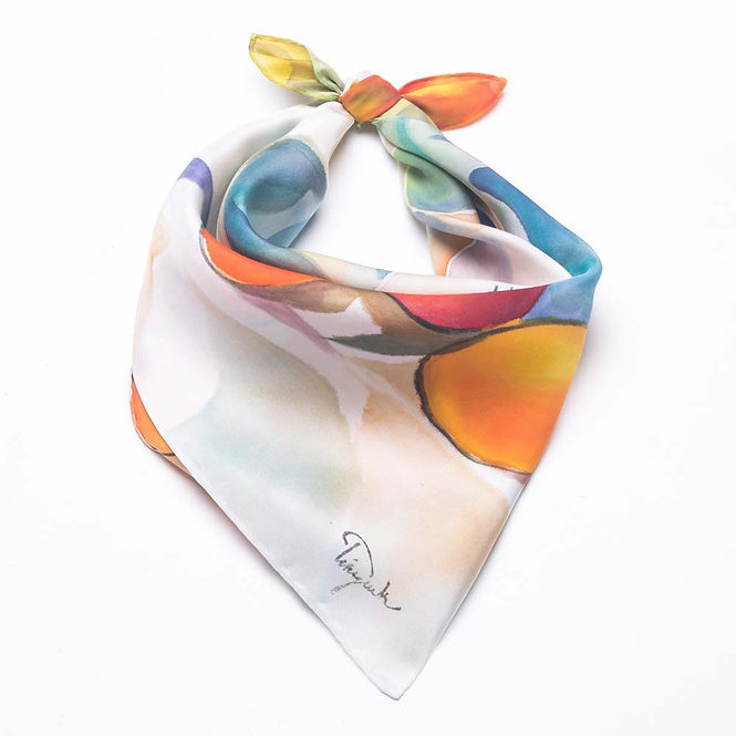 Still Life-Painted 454 Square Scarf