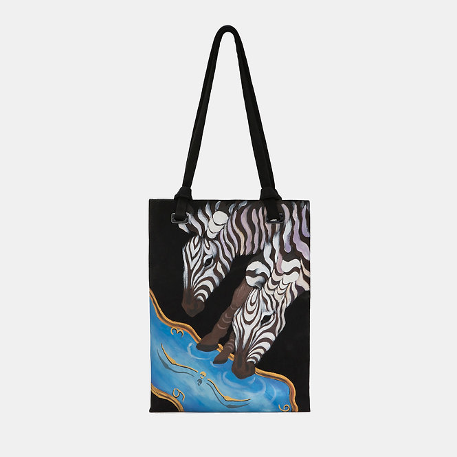 HORSE-PAINTED TOTE BAG