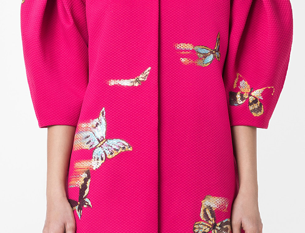 BUTTERFLY VOLUMINOUS SLEEVE COAT