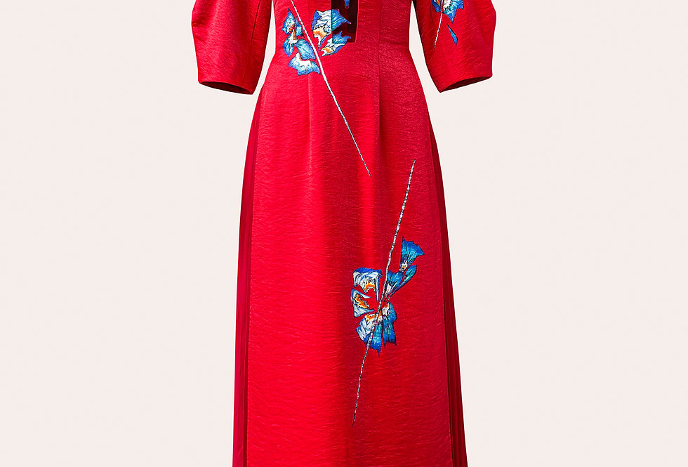 ORCHID TREE FLOWER-PAINTED CONTEMPORARY AODAI