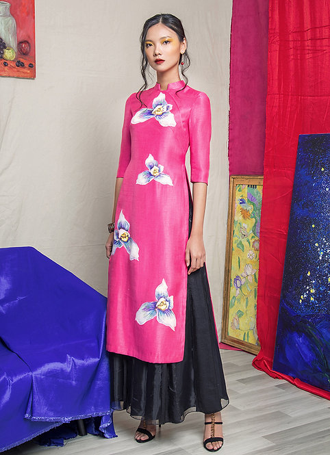 FLORAL-PAINTED COMTEMPORARY AODAI