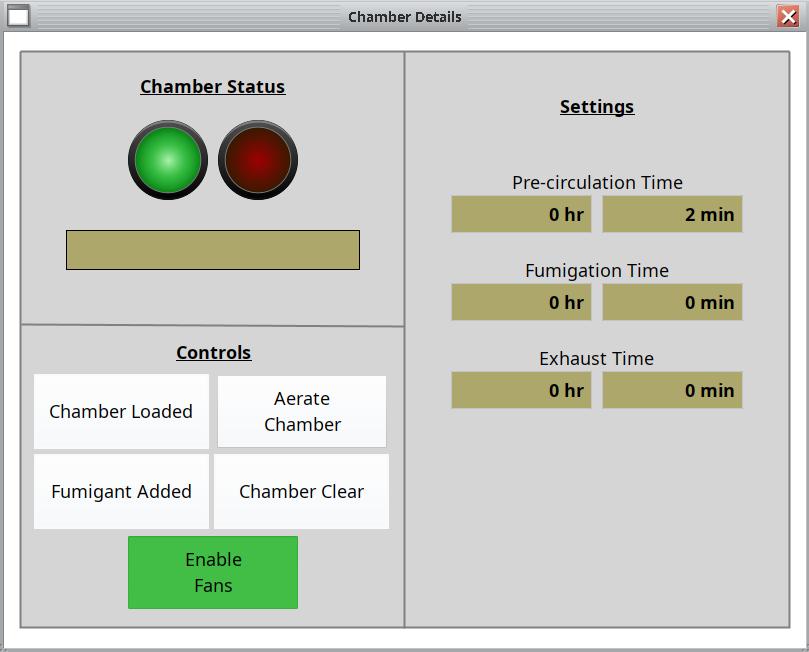 HMI Fumigation Controls