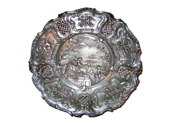 French Silver Dish