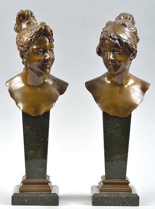 Art Nouveau - Bronze Busts