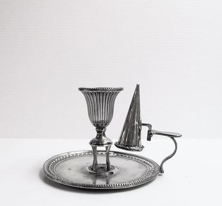 English Silver - 18th Century Chamber Stick