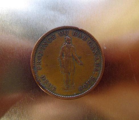 Habitant Penny - Canada 1837