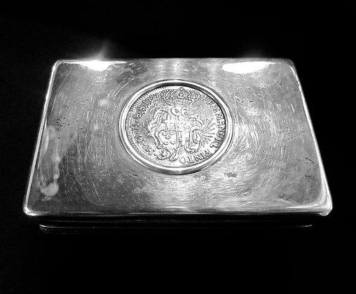 Sterling Silver Box Malta Coin