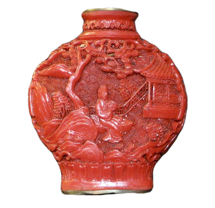Snuff Cinnabar Bottle