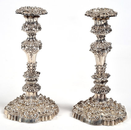 English Silver - Sterling Silver Candlesticks
