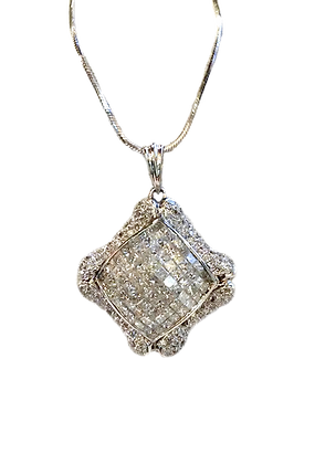 Diamond Invisible Setting Pendant