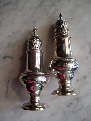 English Silver - Pepper Casters