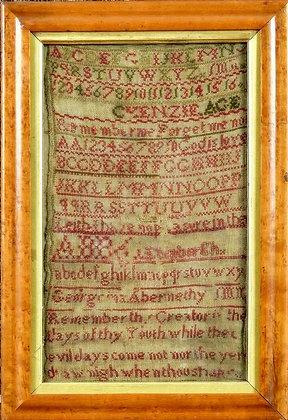 19th Century Scottish Sampler