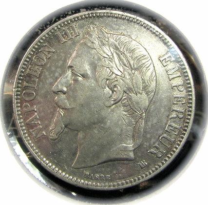 Napoleon lll Five Francs