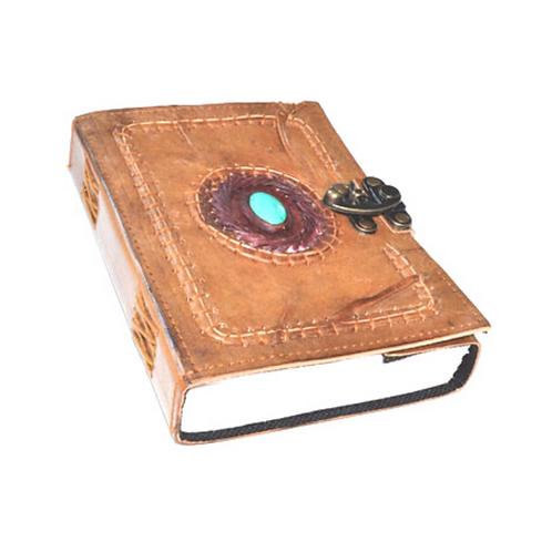Jewel Stone Leather Journal with Latch
