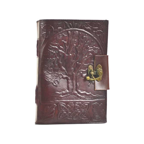 Leather Tree of Life Journal w/ Latch