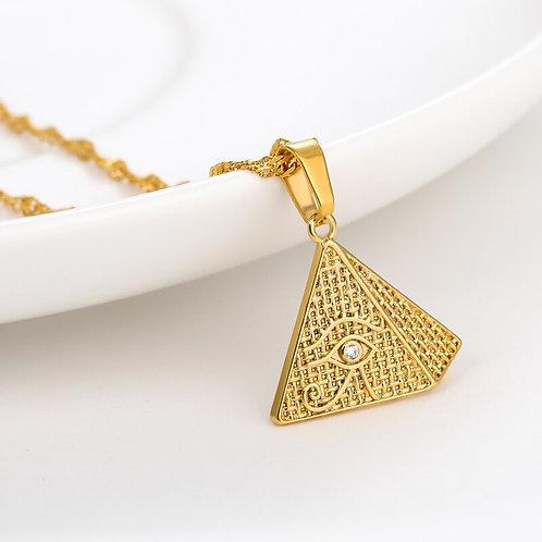 Eye of Horus Pyramid Necklace