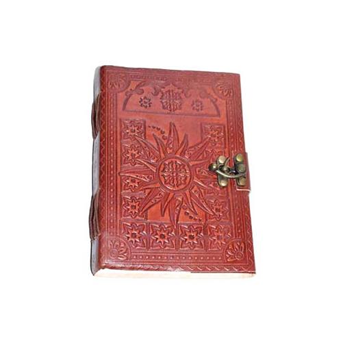 Sun Design Leather Journal w/ Latch
