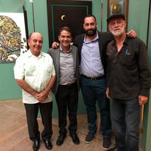 De izq. a derecha: Domitilo Negrón, Rigoberto Rodríguez Roche, Eliel Pérez y Enrique de Jesús