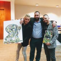 Nuestro artista Harold Prats obtiene una de las obras de Eliel Pérez