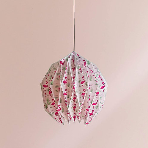 ACEL RIVERS | FLAMINGO ORIGAMI LAMP WITH DREAMCATCHER