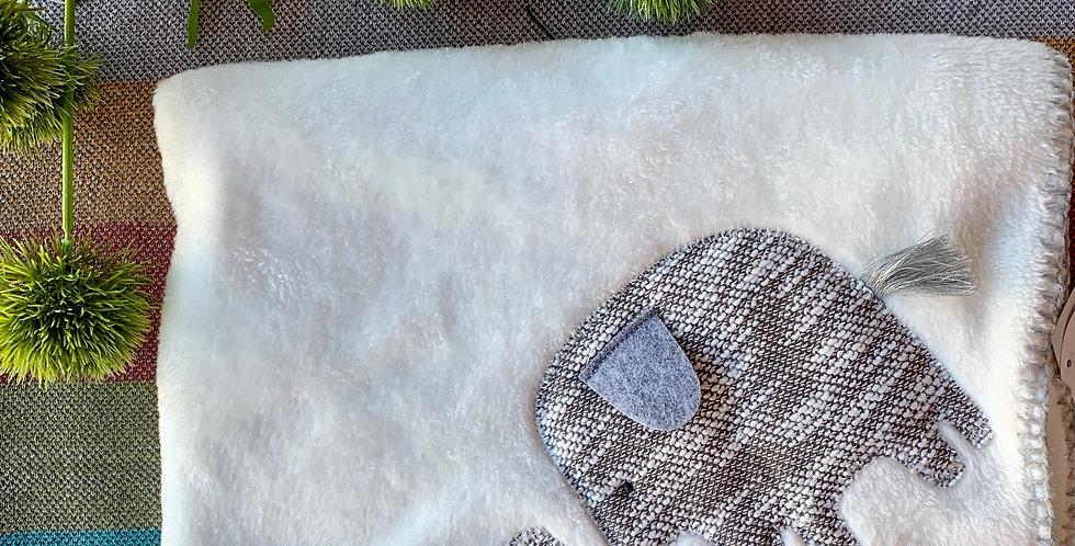 White Elephant Fleece Blanket