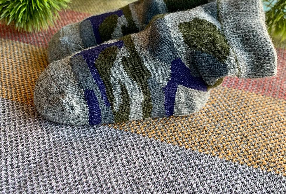 Blue and Green Camo Socks