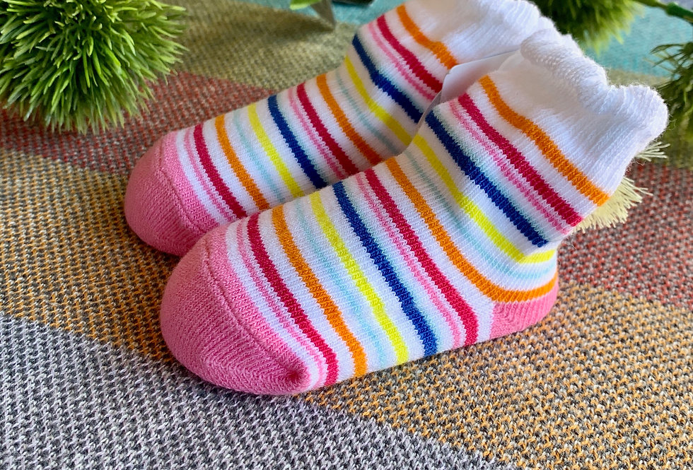 Cotton Tassel Stripe Socks