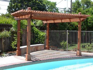 Custom bench & wood arbor
