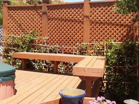 Spa wood deck