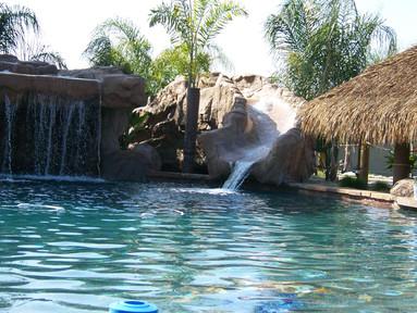 waterfall, waterslide