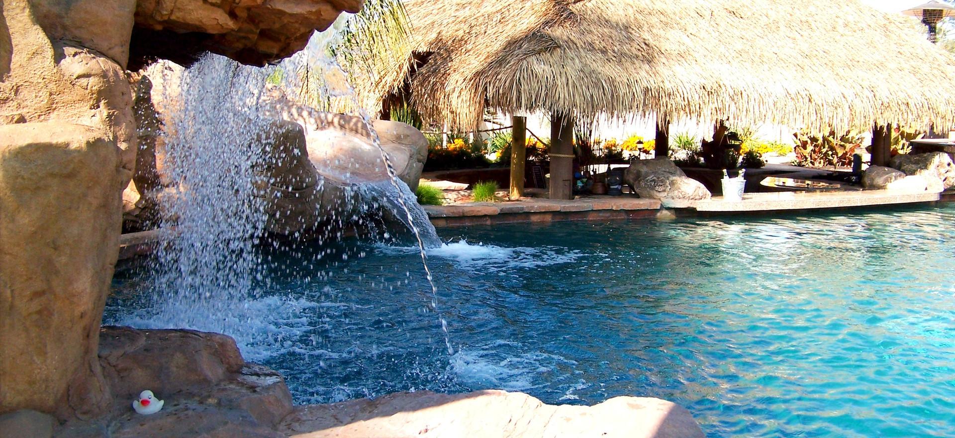Pool & Spa, Waterfall, Gazebo