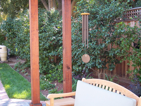 Wood bench and arbor
