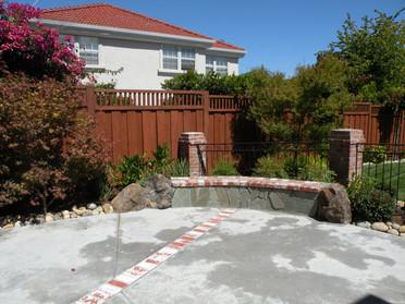 Custom brick bench