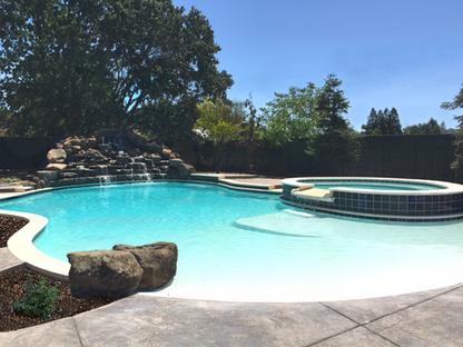 Pool & Spa with Waterfall & Watersheet