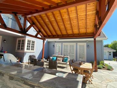 Solid roof pergola