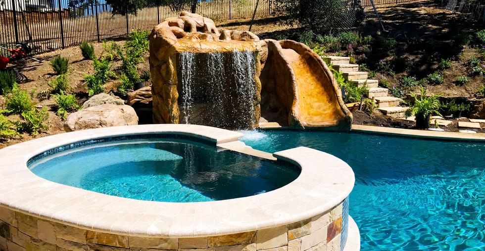 Pool & Spa, Waterfall