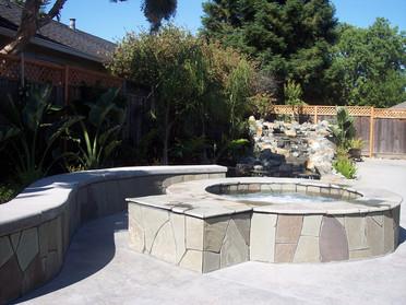Custom bench and spa