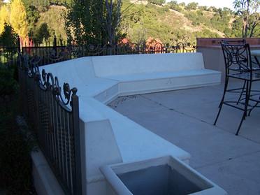 Cement custom bench