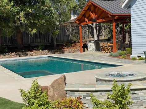 Pool & Spa. Firepit