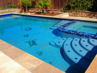 Pool Water Mosaic