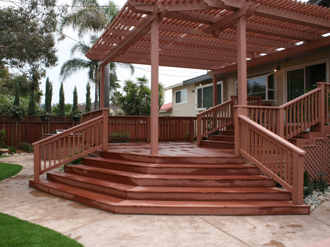 Trex deck and stairs