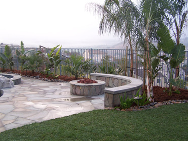 Custom bench and firepit
